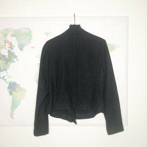 Vince Jackets & Coats - Vince Frayed Edge Scuba Jacket Size XL Black Knit